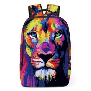 Handbags - Lion Print Backpack